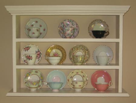 Teacup Display Shelf Display And Curio Shelves Wood
