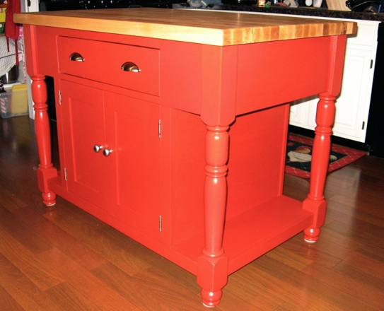 Brilliant Red kitchen island, Charles Iannone 543 x 440 · 68 kB · jpeg