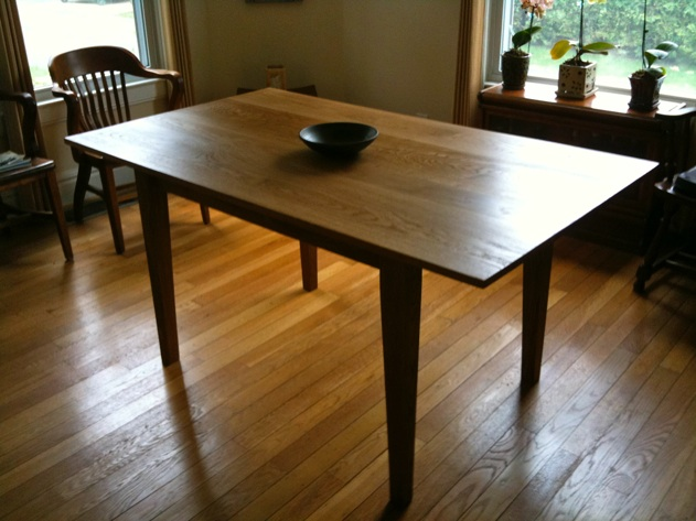 Donald Lococo White Oak Shaker Style Dining Room Table